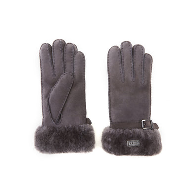 CUFF GLOVES GREY NAPPA