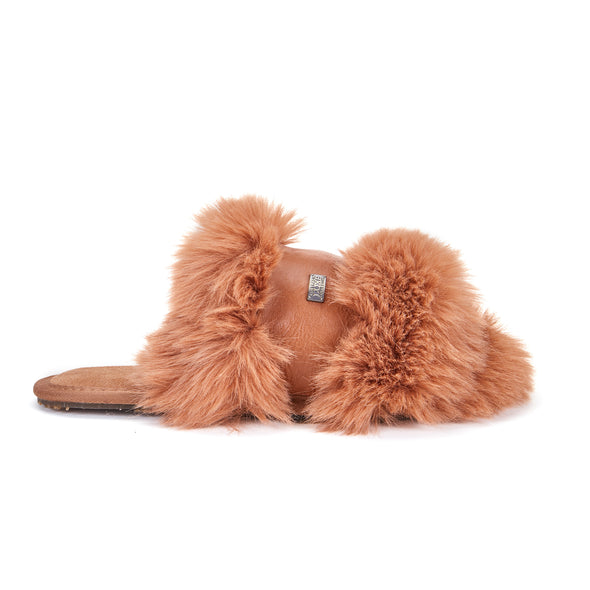 MUCHAS LUXE FAUX FUR CHESTNUT