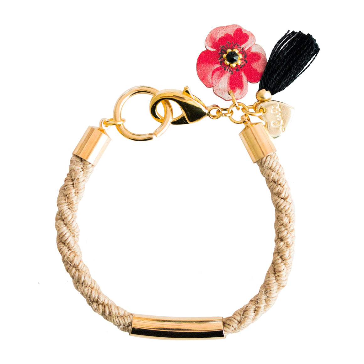 BRACCIALE COLOR TWIST POPPY JUTA - Luli Art Bijoux