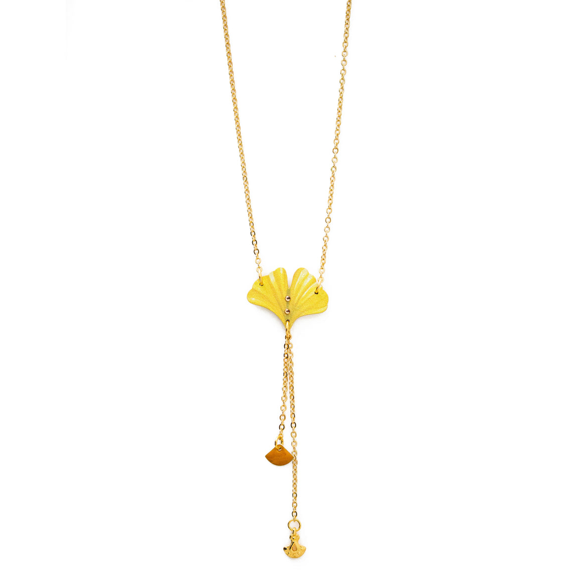 COLLANA DOUBLE GINKGO - Luli Art Bijoux