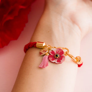 BRACCIALE COLOR TWIST POPPY - Luli Art Bijoux