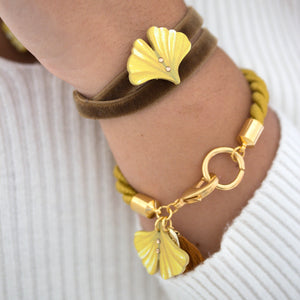 FLOWER VELVET - 2 in 1 <br /> Ginkgo - Luli Art Bijoux