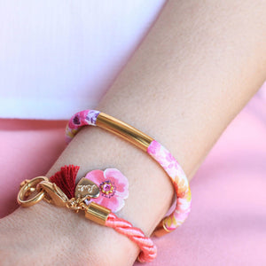 BRACCIALE FLOWER HAPPINESS <br /> 7 colori - Luli Art Bijoux