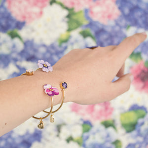 BRACCIALE FLORA BANGLE  <br /> 32 colori - Luli Art Bijoux