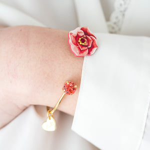 BRACCIALE ROSE BANGLE  <br /> 2 colori - Luli Art Bijoux