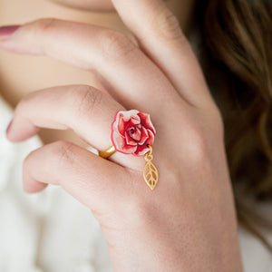 ANELLO LITTLE ROSE <br /> 2 colori - Luli Art Bijoux