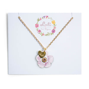 "COLLANA LULI <br /> Anemone Rosa <br /> ""Fortuna in Amore"" - Luli Art Bijoux"