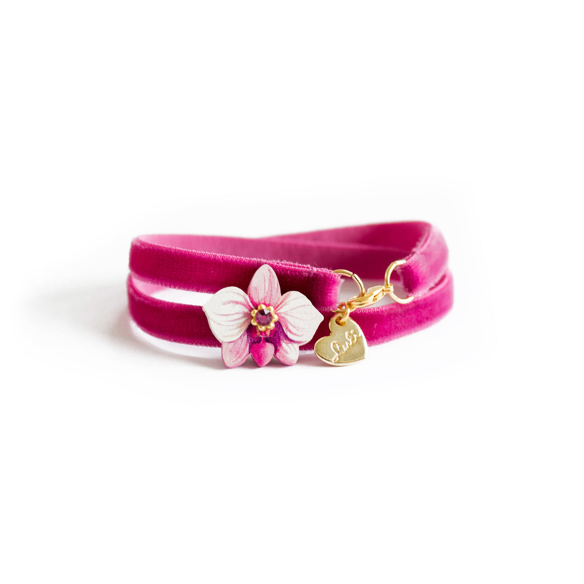 FLOWER VELVET - 2 in 1 <br /> Orchidea Fucsia - Luli Art Bijoux