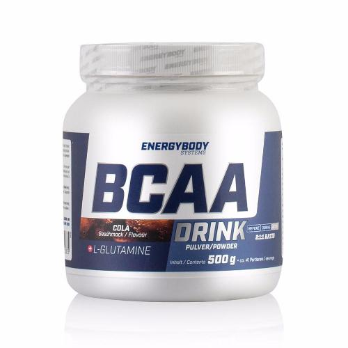 Energybody BCAA Drink Cola flavour, the amino acid to build muscle.