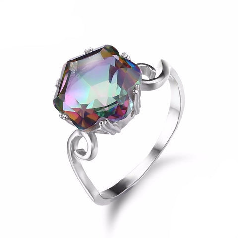 Sterling Silver Ring with 5.7ct Mystic Topaz