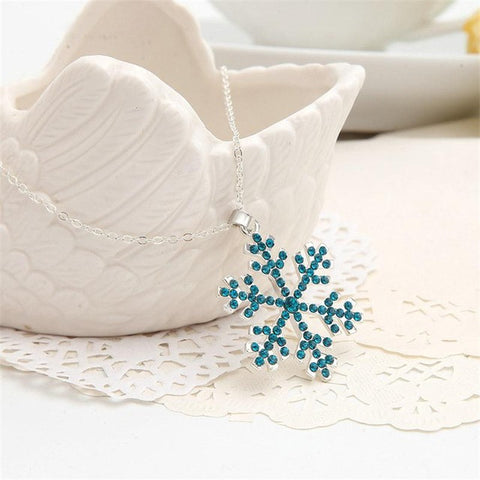 Snowflake Zirconia Necklace