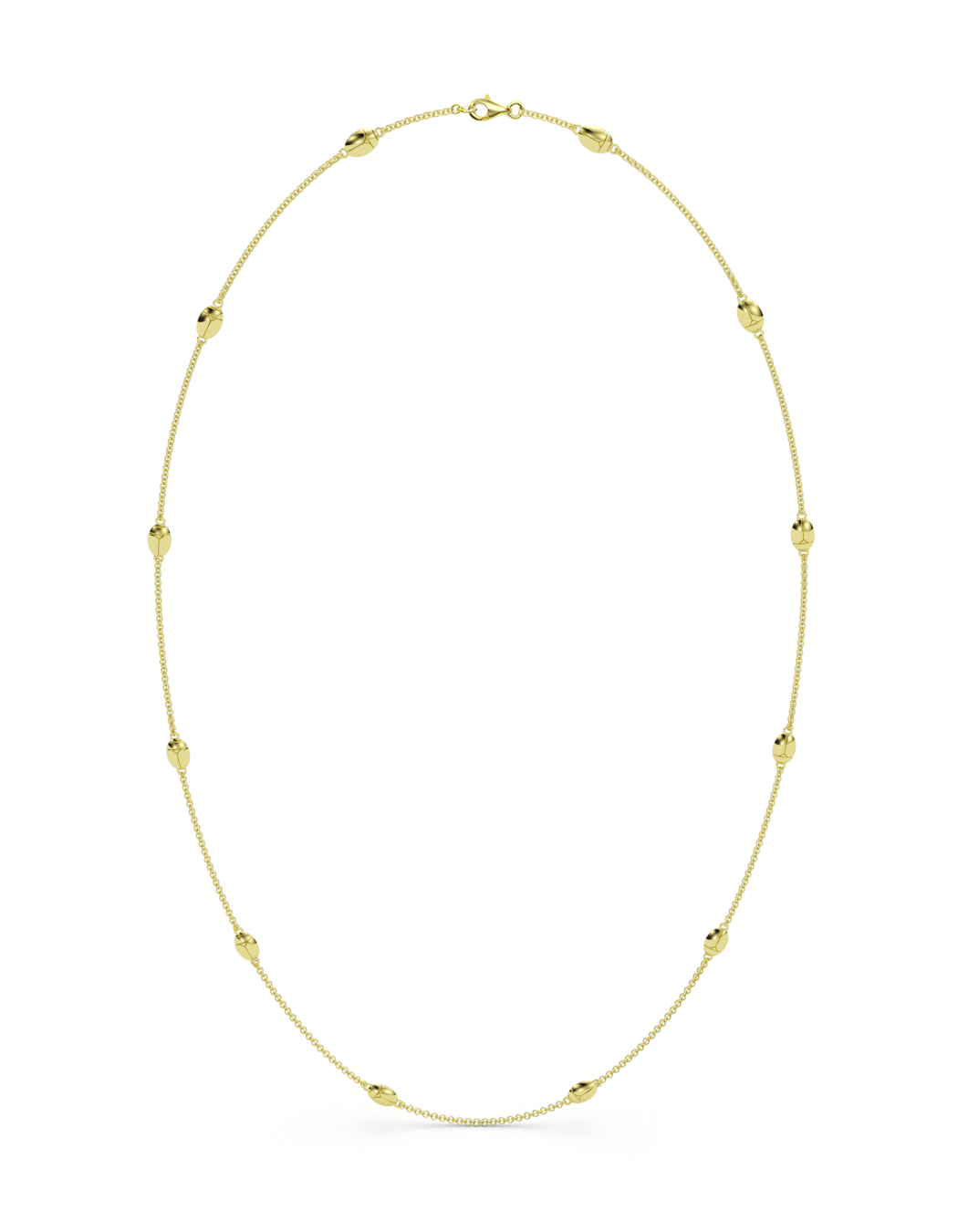 14k / 18k Gold Lucky Bug Necklace 29