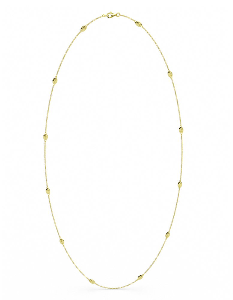 14k Gold Lucky Bug Necklace 36""