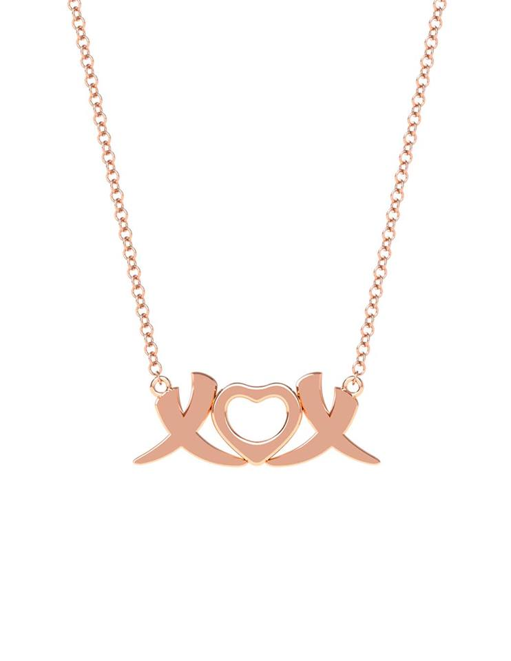 18K Gold XOX Elephant Love Necklace