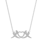 18k XOX Elephant Love Necklace