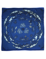 Marine Blue Tied Together for Common Ground - 100% Silk Scarf