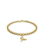 Diamond Elephant Charmer Bracelet 14k Gold