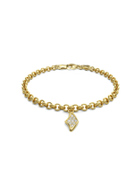 Diamond Manta Charmer Bracelet 14k Gold