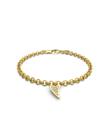 Diamond Shark Charmer Bracelet 14k Gold