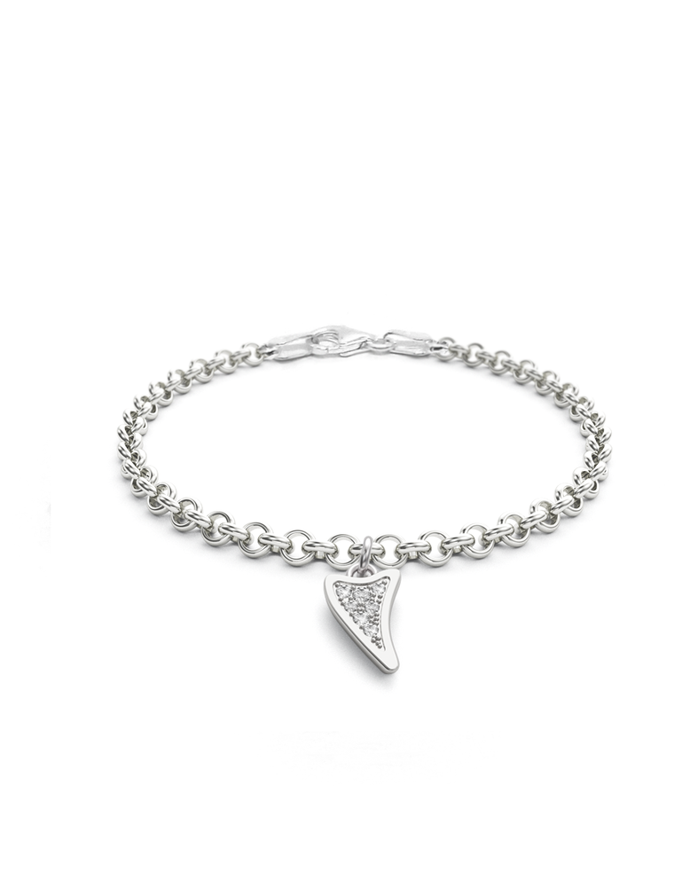 Diamond Shark Charmer Bracelet