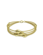 14k Gold Lucky Bug Bracelet Bunch
