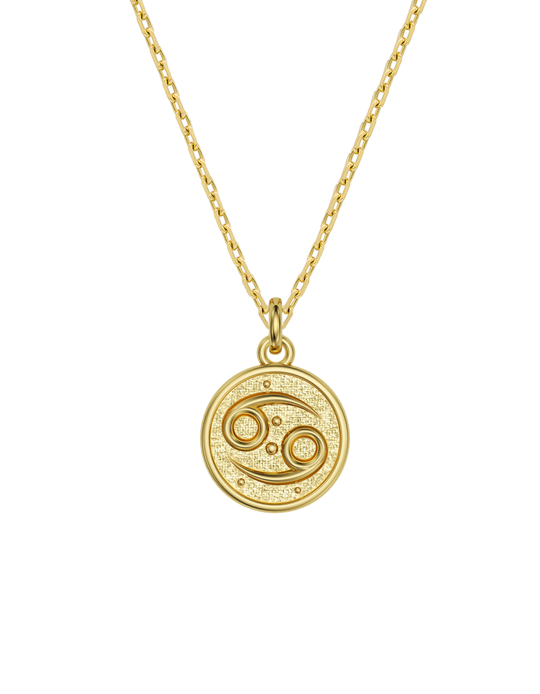 14k / 18k Cancer Zodiac Necklace
