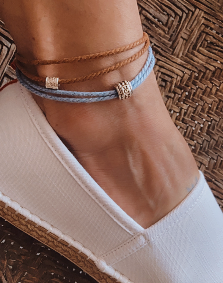 Surf Blue - Cast Away Anklet & Bracelet