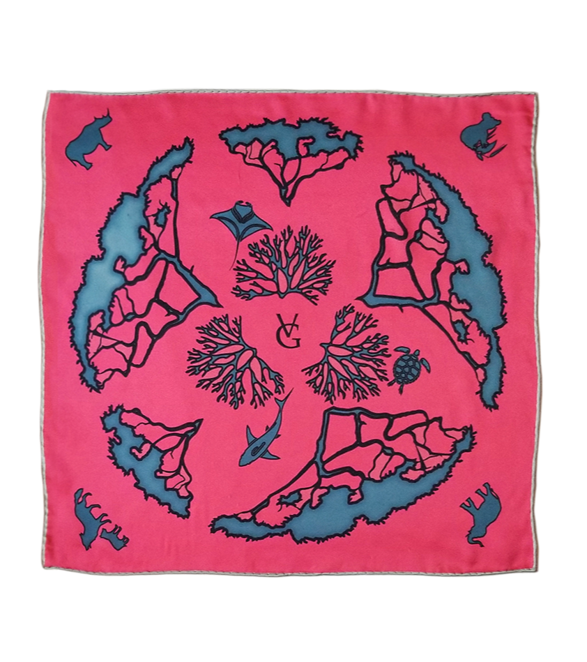 Tied Together - Medium & Mini 100% Silk Scarf