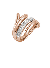 Coral Love Branch Sparkly Ring