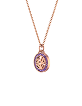 Glowing Coral Lace Medallion