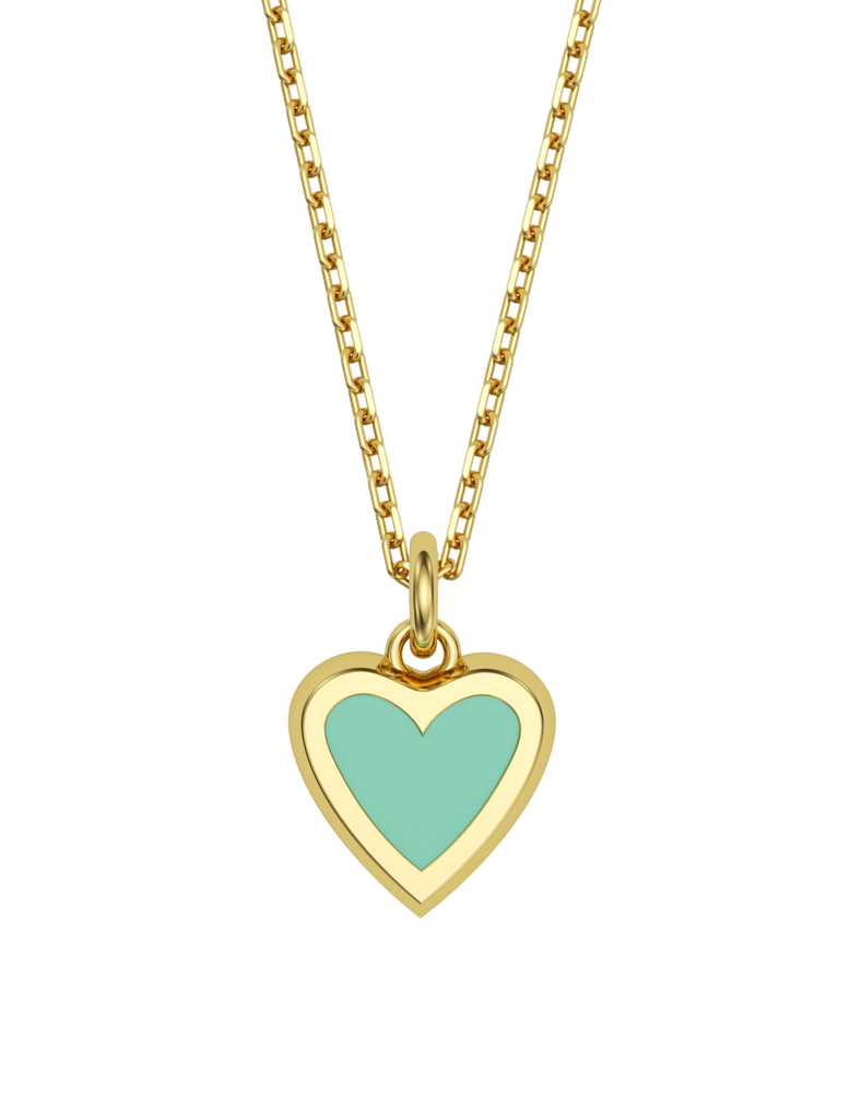 Heart Charmer Necklace 14k Gold
