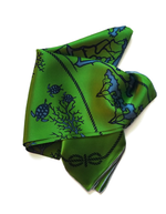 Green Tied Together for Common Ground - 100% Silk Scarf