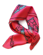 Coral Tied Together for Common Ground - 100% Silk Scarf