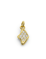 Diamond Manta Charmer 14k Gold