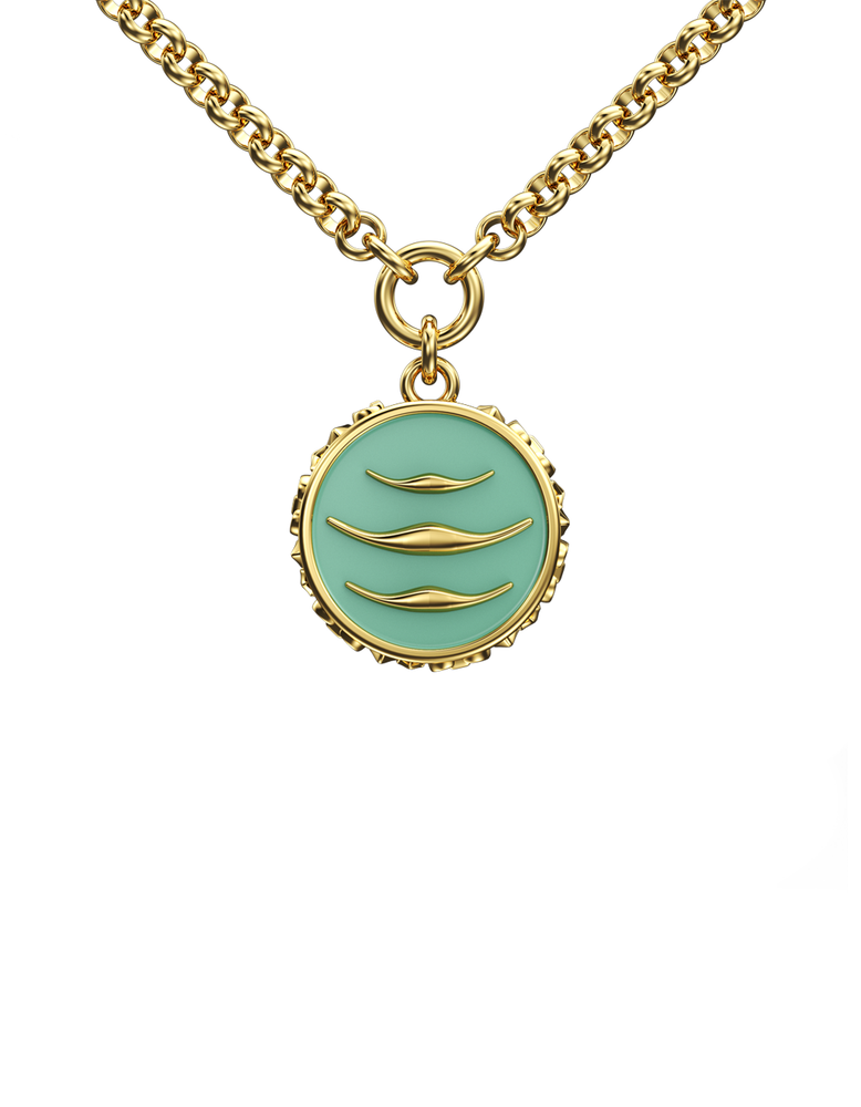 Enamel Manta Necklace