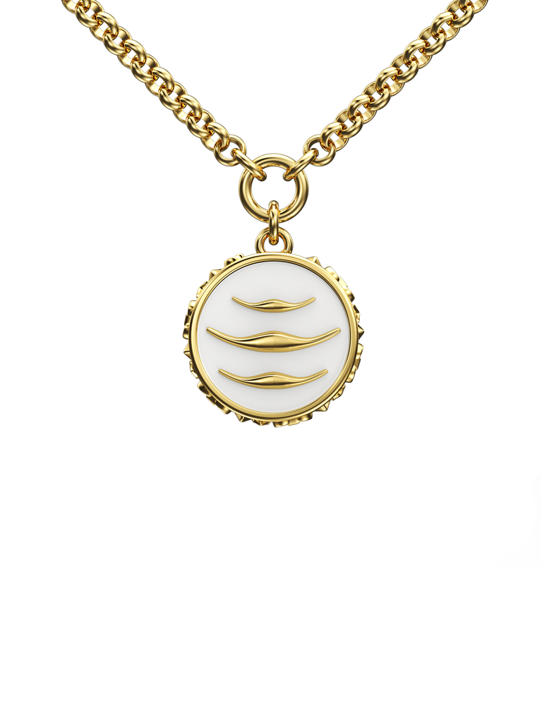 Enamel Manta Necklace - 14k/18k Gold