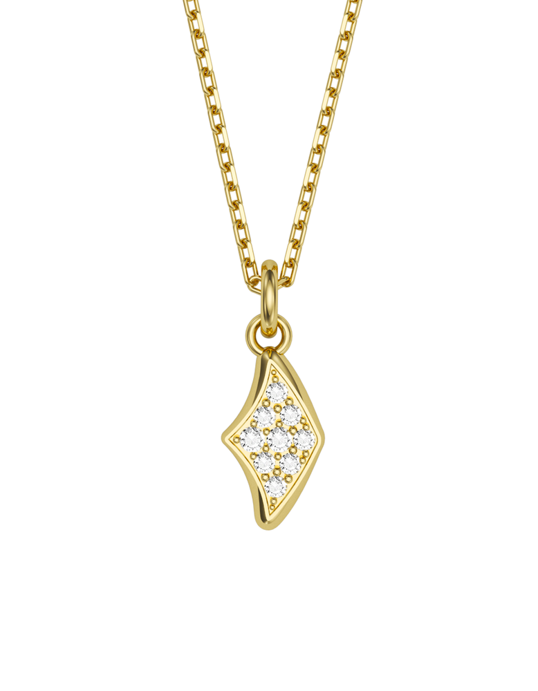 Diamond Manta Charmer Necklace 14k Gold
