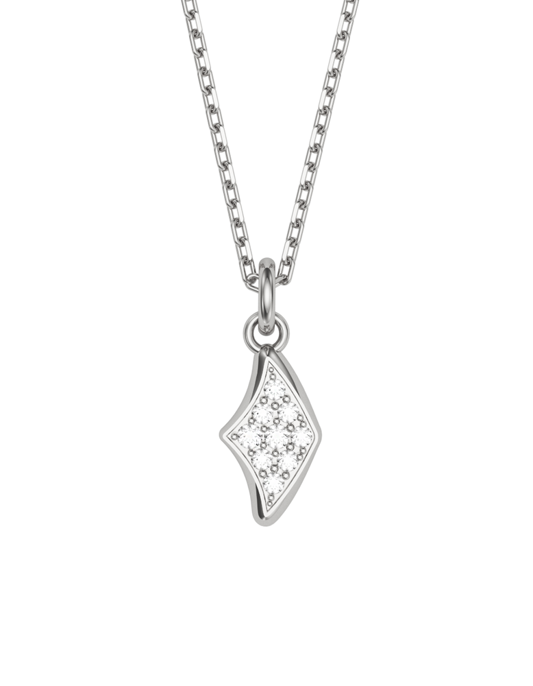 Diamond Manta Charmer Necklace