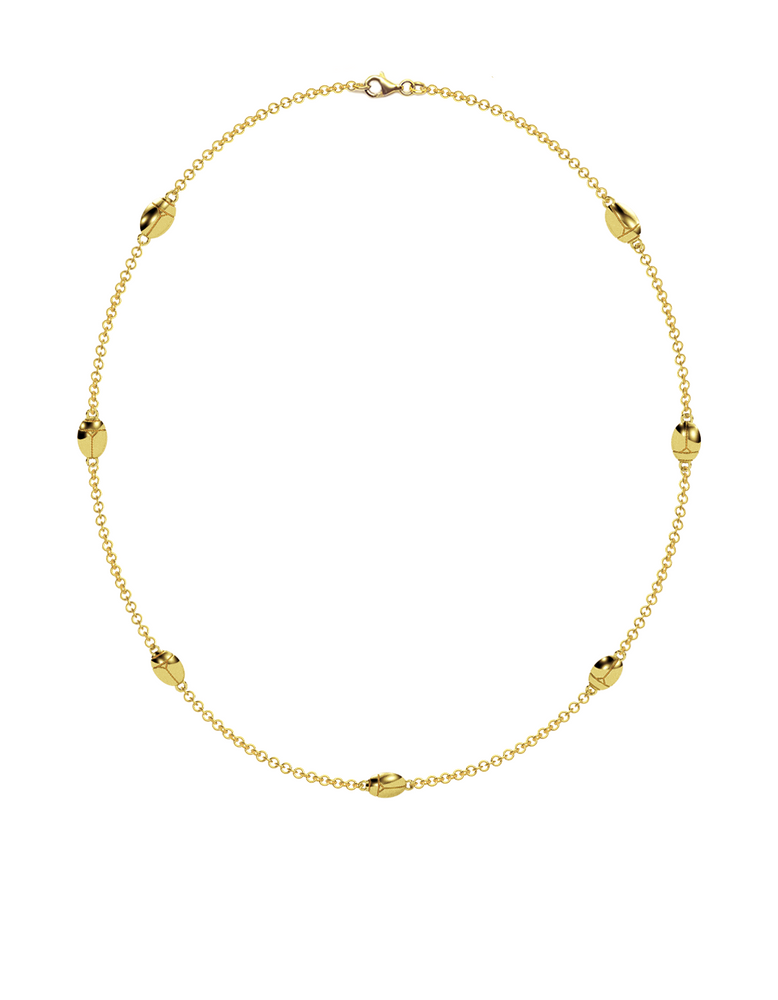 14k Gold Lucky Bug Necklace