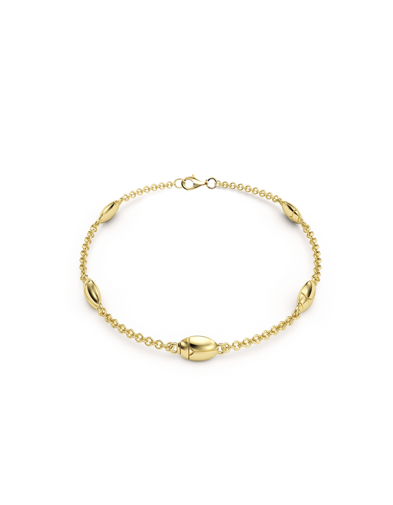 14k / 18k Gold Lucky Bug Bracelet
