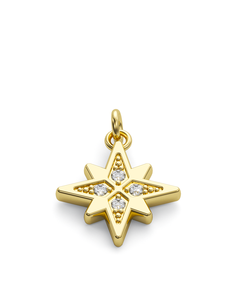 Diamond Morning Star Charmer 14k Gold