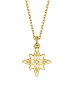 Diamond Morning Star Charmer Necklace 14k Gold