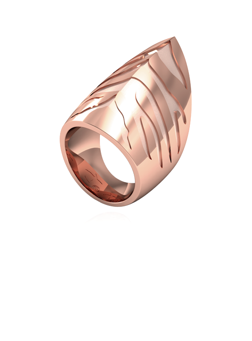 Tiger Shark Ring Rose Gold Vermeil
