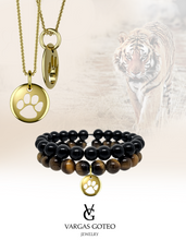 Tiger Print Gemstone Bracelet Set