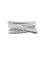 Triple Rope Ring Silver & White