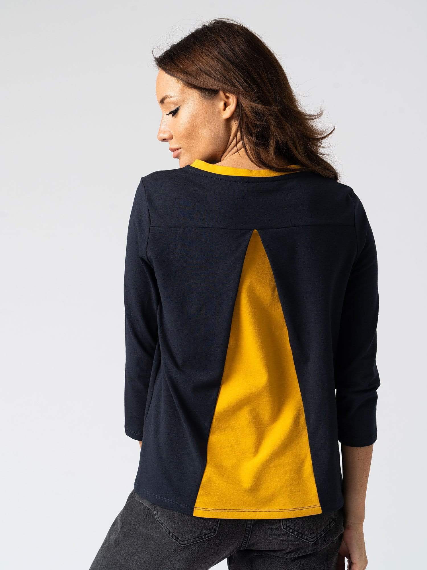 Contrast Sweater Navy