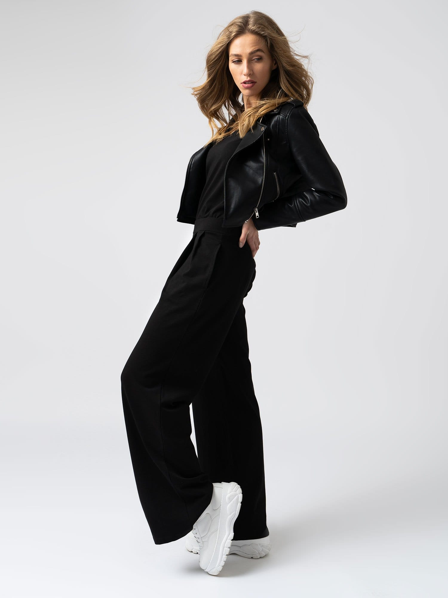 Camden Wide Leg Pant in Black