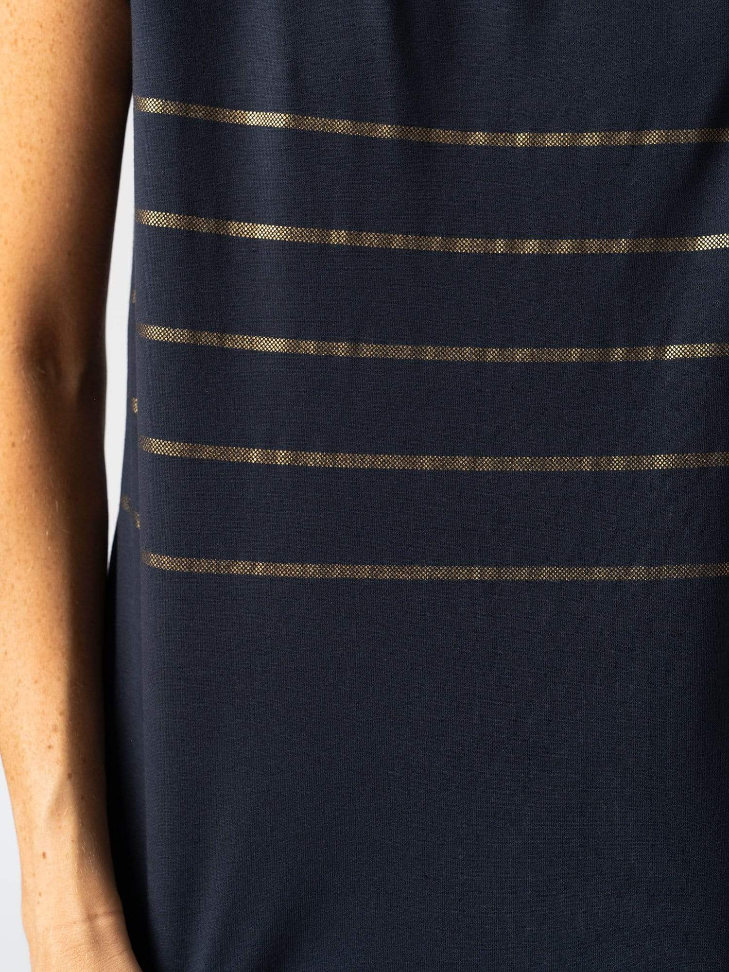 Women's Easy Tee Striped - Navy | Zaggora Europe