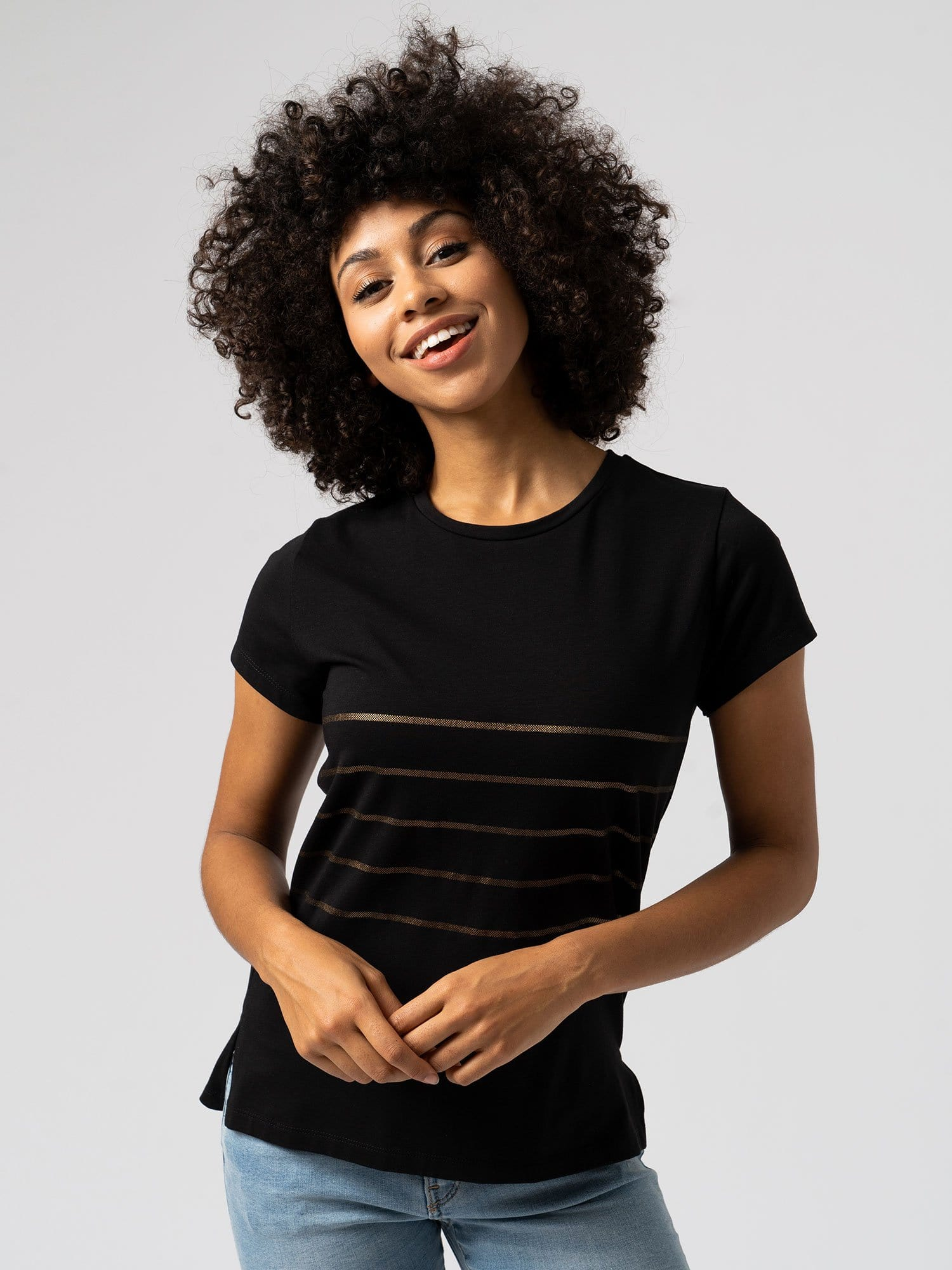 Easy Tee Stripe - Black