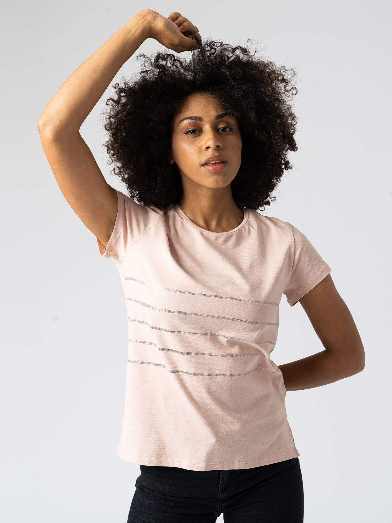 Easy Tee Stripe - Pink